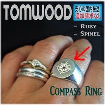 北欧発★Tom Wood★Compass Ring - Ruby / Spinel