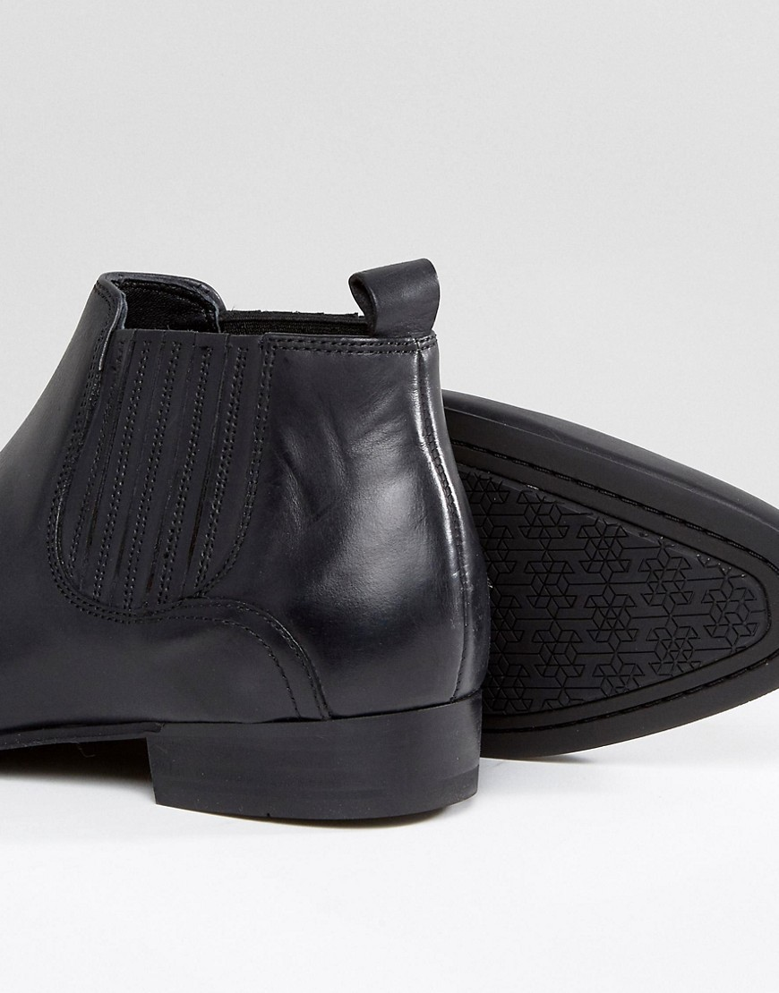 ◎送料込み◎ Hudson London Zelus Leather Chelsea Boots In