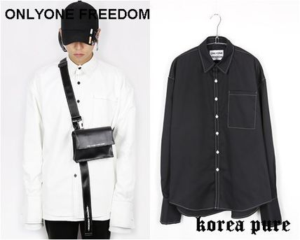 ONLYONE FREEDOM シャツ 【ONLYONE FREEDOM】Stitch Over Cuffs Shirts / 2color