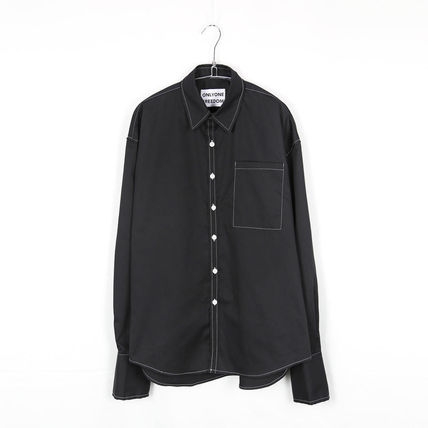ONLYONE FREEDOM シャツ 【ONLYONE FREEDOM】Stitch Over Cuffs Shirts / 2color(9)