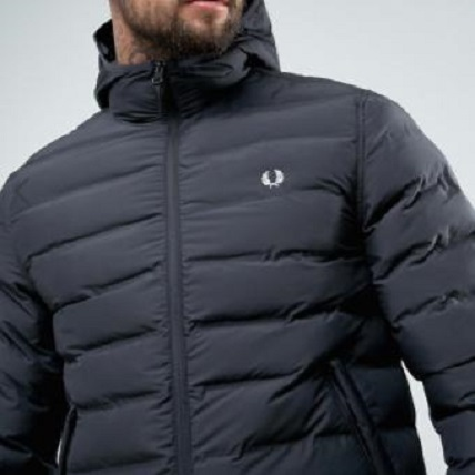 送料込Fred Perry Brentham Quilted Puffer Hooded Jacket