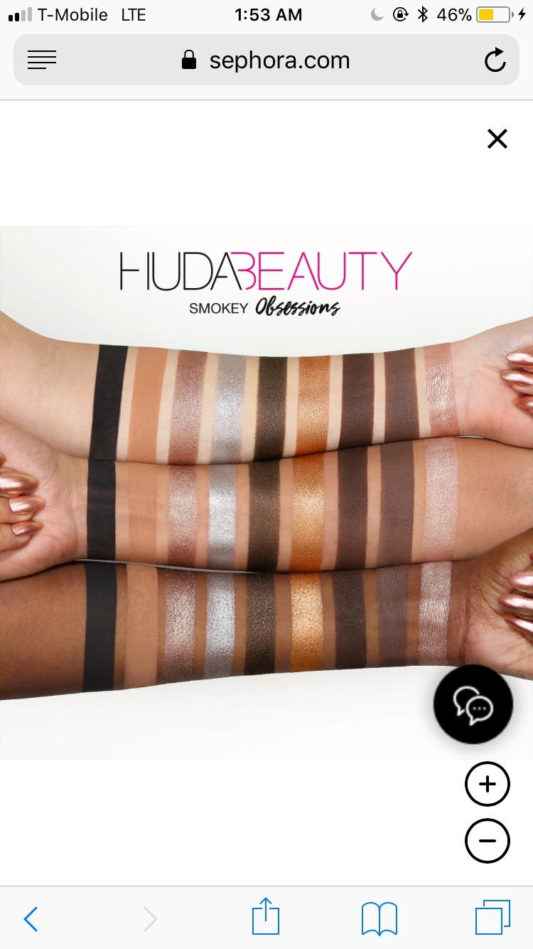 Huda beauty Obsessions Eyeshadow Palette スモーキー