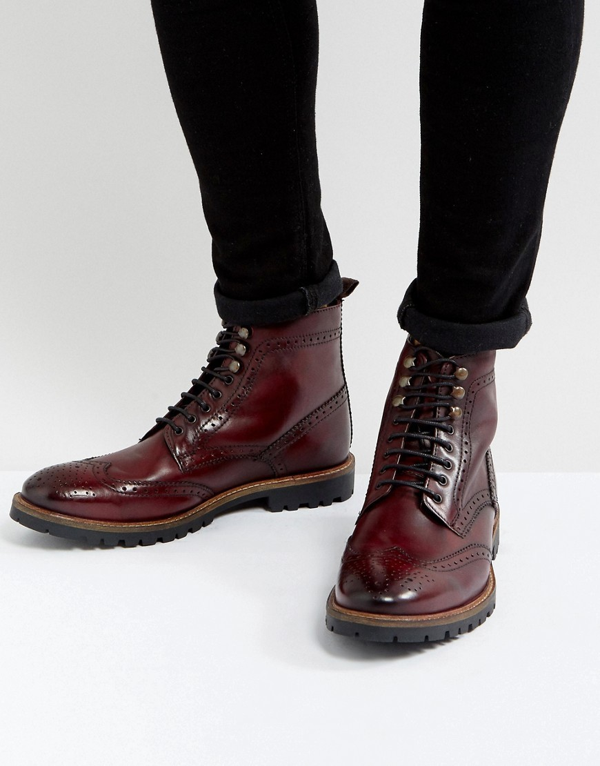 ◎送料込み◎ Base London Troop Leather Lace Up Boots In