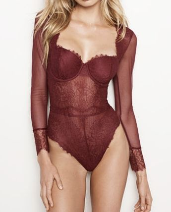 Chantilly Lace Long-sleeve Teddy
