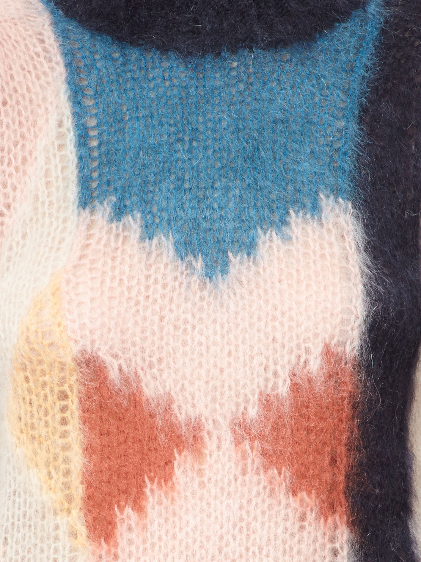 17-18AW C279 COLOR BLOCK MOHAIR BLEND SWEATER