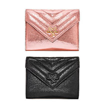 V-Quilt Metallic Crackle Night Out Wallet