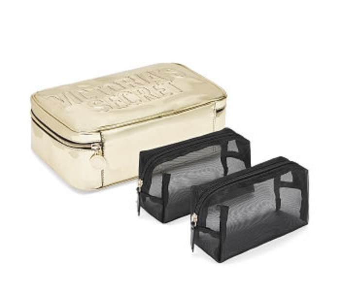 Mirrored Metallic Jetsetter Travel Case