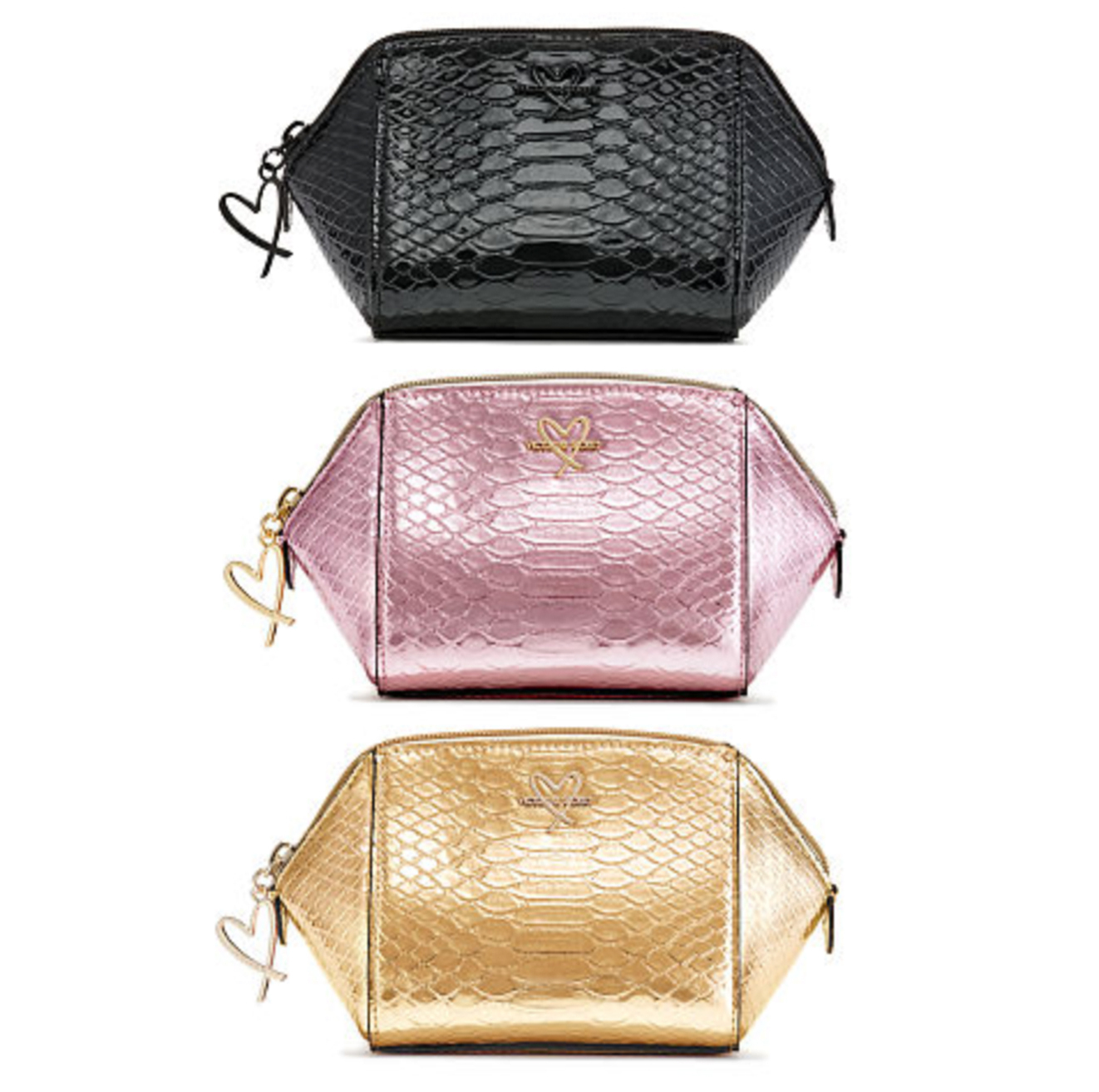 Luxe Python On-The-Go Beauty Bag