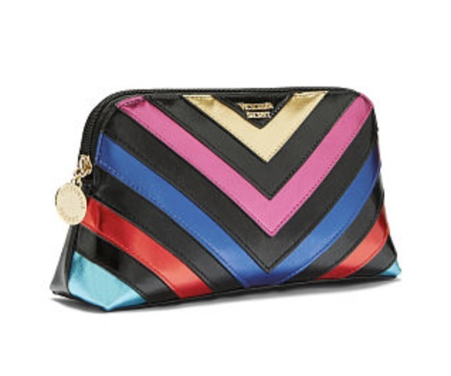 V-Quilt Rainbow On-The-Go Beauty Bag