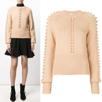 17-18AW C281 POMPOM EMBELLISHED SWEATER