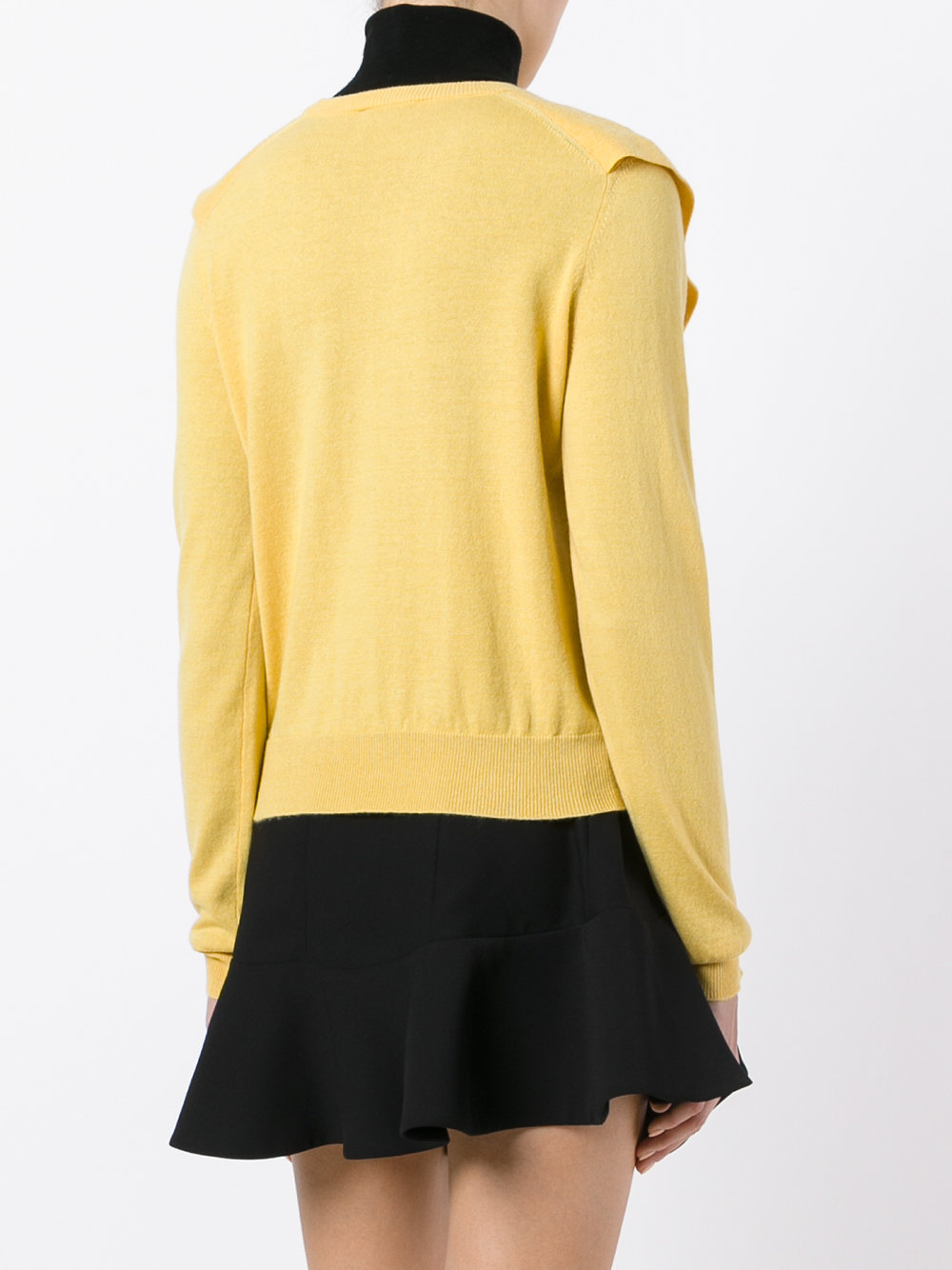 17-18AW C282 RUFFLED CASHMERE & COTTON SWEATER
