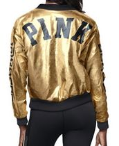 PINK METALLIC BOMBER JACKET
