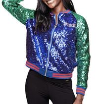 PINK BLING SEQUIN BOMBER JACKET