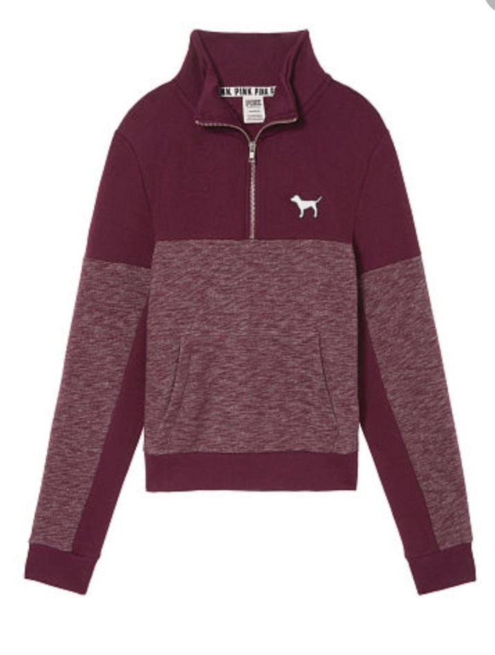 PINK PERFECT QUARTER-ZIP