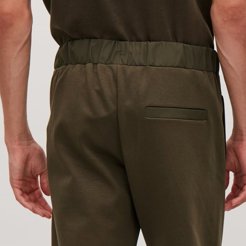 """COS MEN""JERSEY TROUSERS WITH WOVEN DETAIL KHAKI"