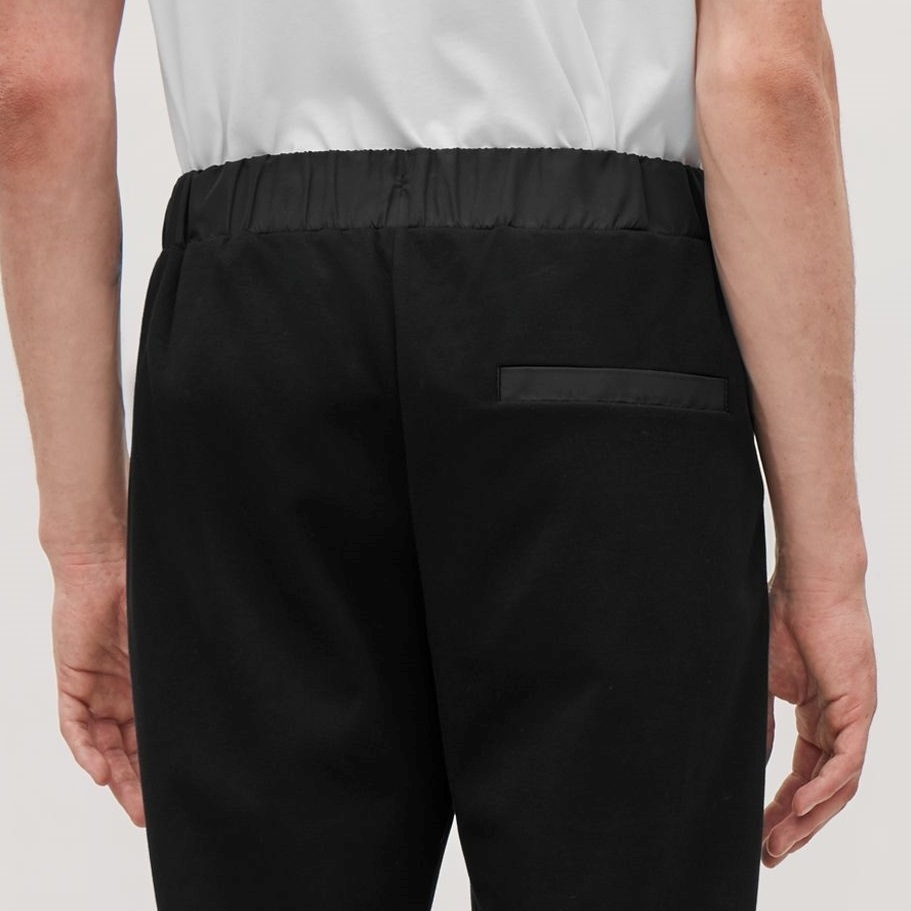 """""""COS MEN""""JERSEY TROUSERS WITH WOVEN DETAIL KHAKI"""