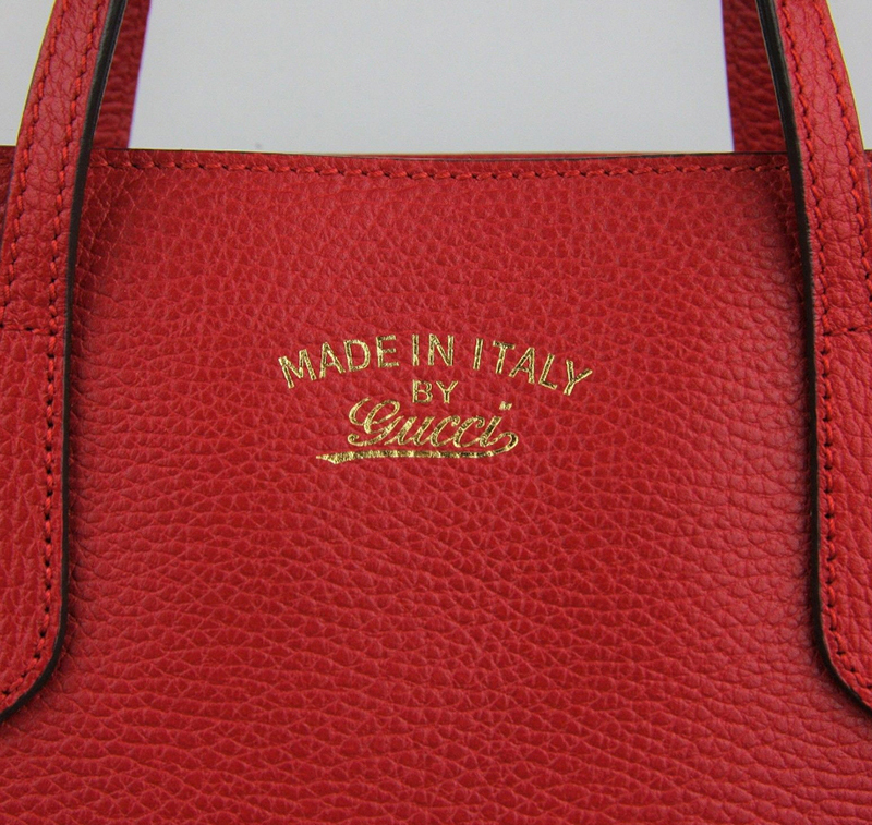 GUCCI★グッチ★素敵!Red Leather SWING 2WAY Tote Bag