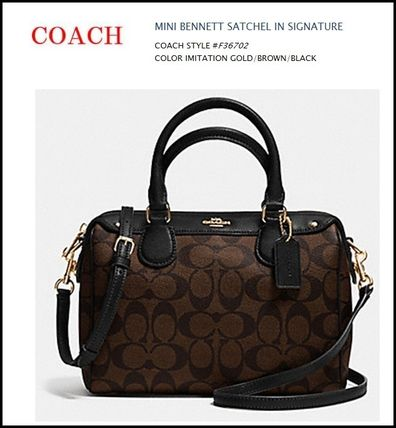 【COACH】MINI BENNETT SATCHEL IN SIGNATURE  ★F36702