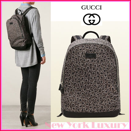 369c404275ce GUCCI バックパック・リュック GUCCI☆グッチ☆素敵! Leopard Print Canvas Backpack ...