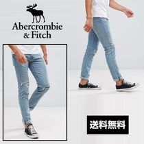 Abercrombie & Fitch リップド スリムジーンズ/Light Wash