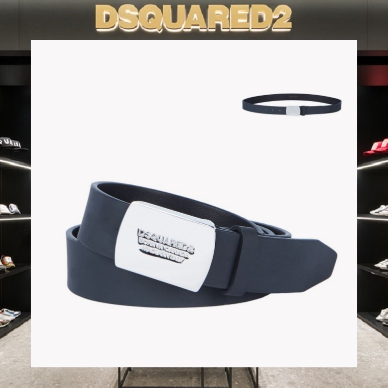 【18SS NEW】D SQUARED2_men/Leather Plaque ベルト