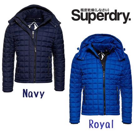 【Superdry】Box Quilt Fuji Hooded (NAVY & ROYAL)