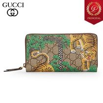 ◆GUCCI グッチ ベンガルトラプリントロングウォレット beige