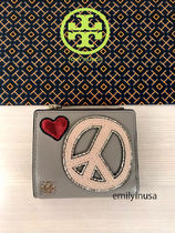 即発 TORY BURCH★PEACE MINI WALLET 折り財布*LOVEいっぱい