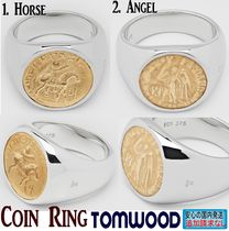 北欧発★Tom Wood★Coin Ring Gold - Women Size(46-56)