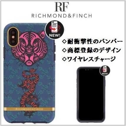 大人気 RICHMOND & FINCH iphone X カバー トラ TIGER & DRAGON