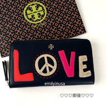 即発 TORY BURCH★PEACE ZIP CONTINENTAL WALLET 長財布*LOVE