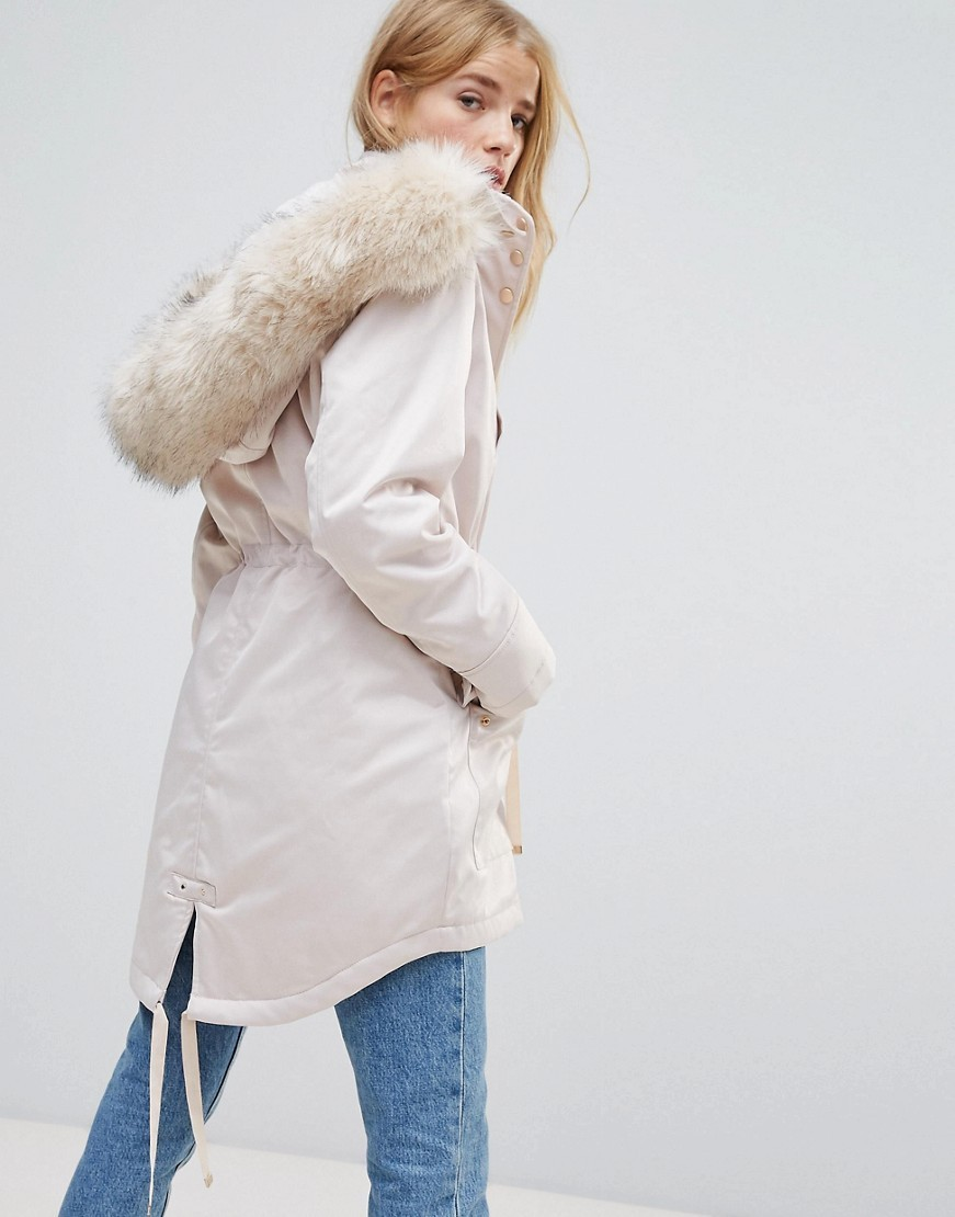 ファー専門 Miss Selfridge Faux Fur Collar Luxe Longline