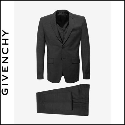 先取りVIP SALE★GIVENCHY★Charcoal Black Wool スーツ