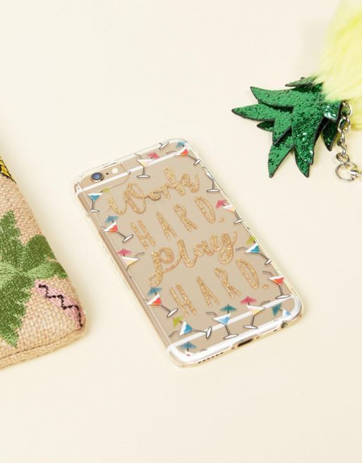 送料・関税込み Skinnydip Work Hard Play Hard iPh iPhone case
