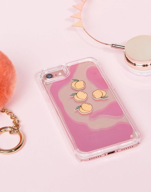 送料・関税込み Skinnydip Peach Charm Liquid iPho iPhone case