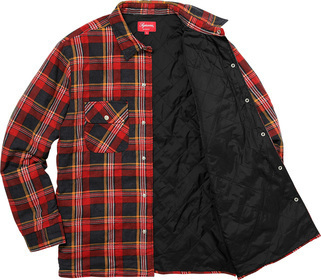 Week13新作!SUPREME17FW★INDEPENDENT Quilted Flannel Shirt