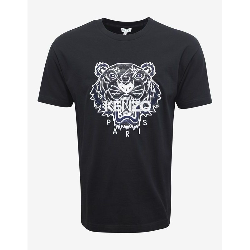 先取りVIP SALE★KENZO★Black Frame Check Tiger Tシャツ