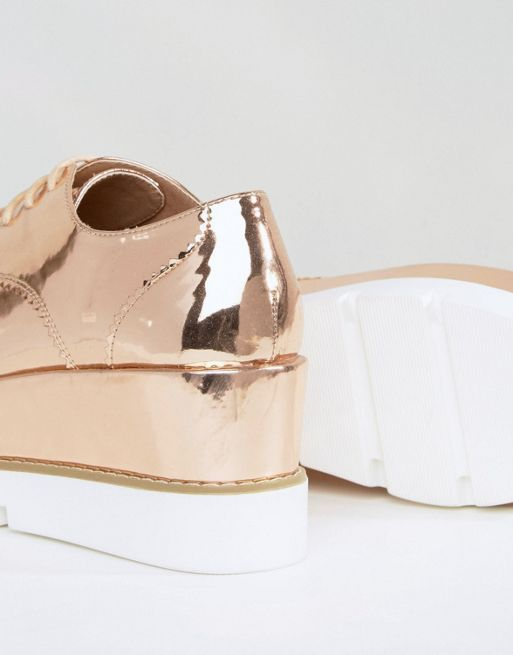 ASOS*新作パンプス*OUTSHINE Lace Up Flatforms*関送無料