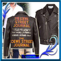 【 LOEWE ロエベ 】 Biker Jacket Street Journal ブラック