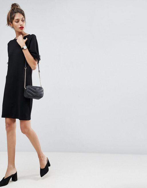 ASOS*新作ワンピース*T-Shirt Dress In Ponte With Lac*関送無料