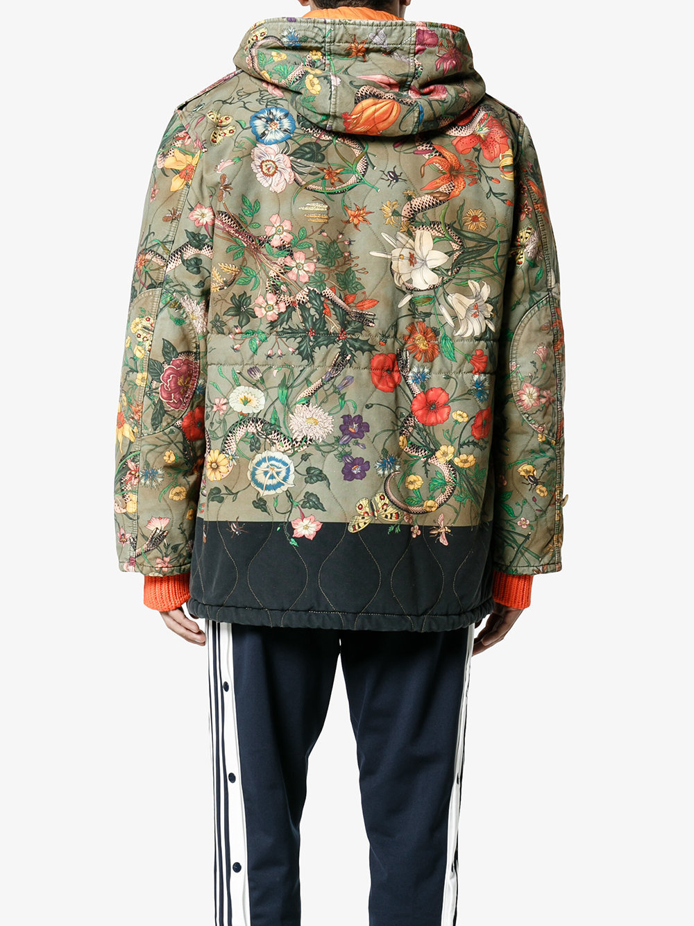 【17AW】GUCCI/ニューフローラパーカーコート