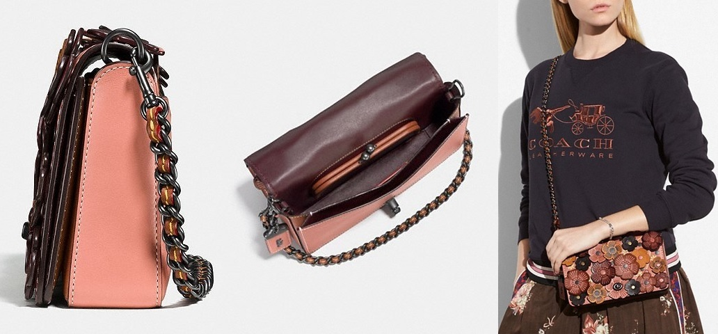 Coach ◆ 38197 Dinky with tea rose