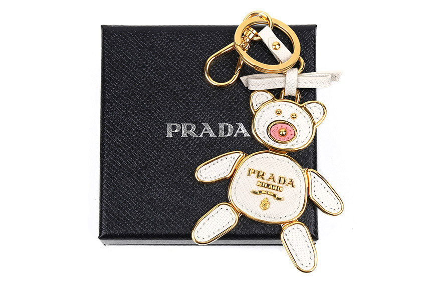 PRADA 17AW SAFFIANO TOYS バッグチャーム キーリング