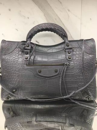早くもBLACK FRIDAY★BALENCIAGA★Classic City Bag Croc Gray
