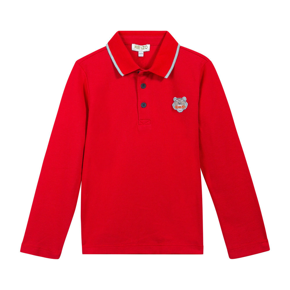 KENZO パリ発★大人OK・Tiger Long Sleeve Polo Shirt・全4色