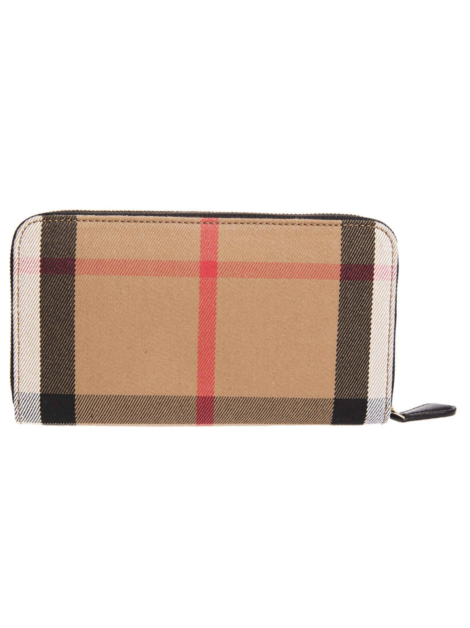 送料込 Burberry House Check Zip Around Wallet 財布