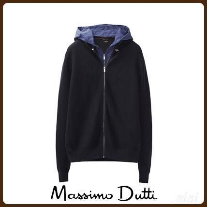 MassimoDutti♪TEXTURED WEAVE HOODED CARDIGAN