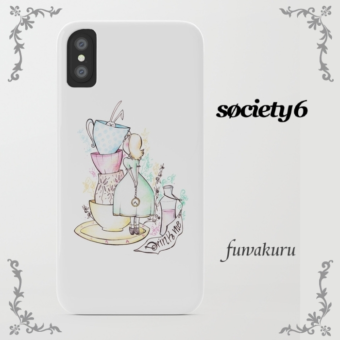 【Society6】iPhoneX,8/Plus,7/Plusケース 他機種有 アリス