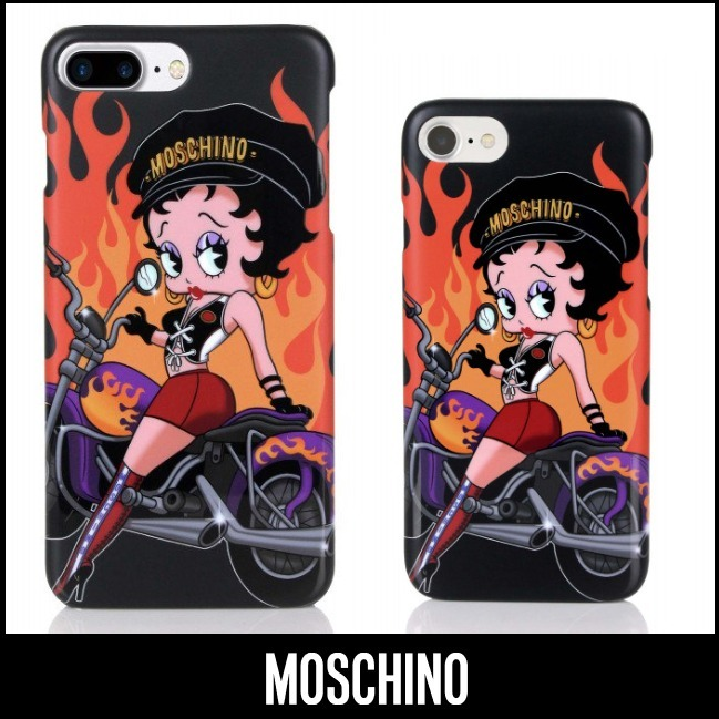 MOSCHINO☆18SS新作☆ベティ・ブープ♪iPhone6/6S/7&Plus