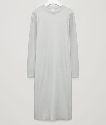 """COS""FOILED METALLIC DRESS LIGHTGRAY/SILVER"